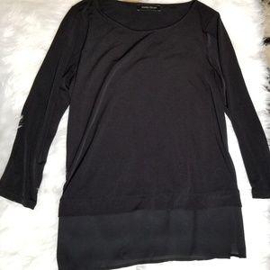 IVANKA TRUMP | Black Drape Blouse Size M
